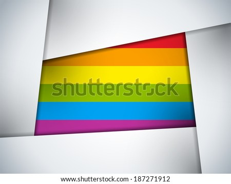 Vector - Square Glass Glossy Button Gay - stock vector