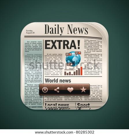 Vector square newspaper XXL icon - stock vector