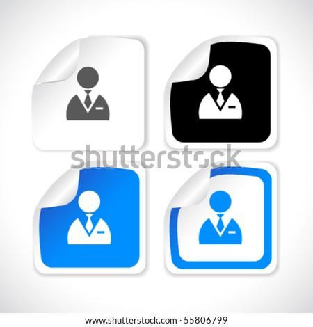 vector square stickers - stock vector