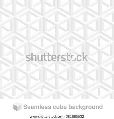 Vector squared monochrome pattern. Seamless geometric texture in grey color. Black and white stylish tiles. 3d abstract dynamic background created of cubes.  - stock vector