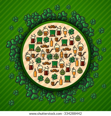 vector St.Patrick's Day background icon set - stock vector