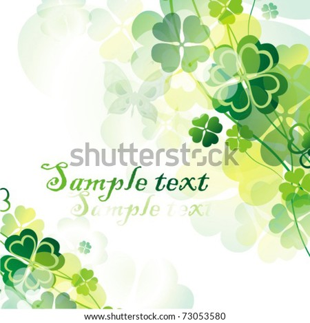 Vector St. Patrick`s Day card - stock vector