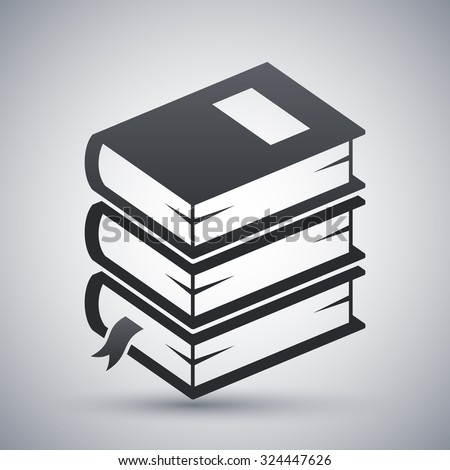 Vector stack of books icon - stock vector