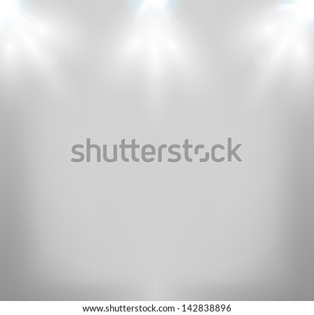 Vector Stage Lights, easy all editable - stock vector
