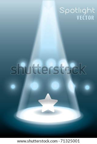 Vector Stage Spotlight - stock vector