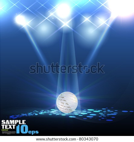 Vector Stage Spotlight with Laser rays and ball - stock vector