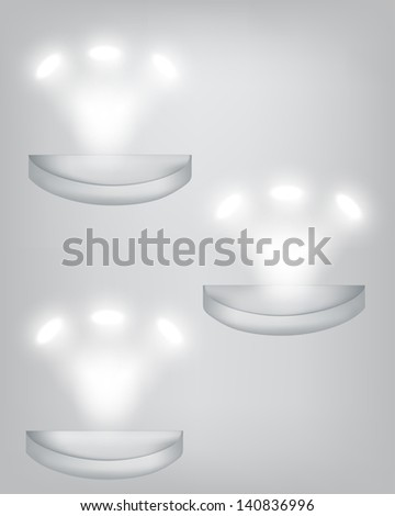 vector stage spotlight with laser rays. light beams EPS10 illustration