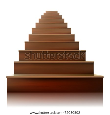 vector stairs - stock vector