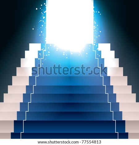 Vector Stairs with Light - stock vector
