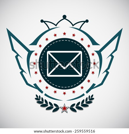 Vector stamp air mail - stock vector