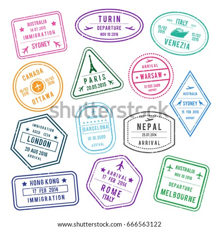 Italy Passport Stamp Stock Images Royalty Free Images