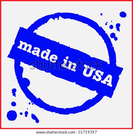 Vector stamp - Made in USA - stock vector