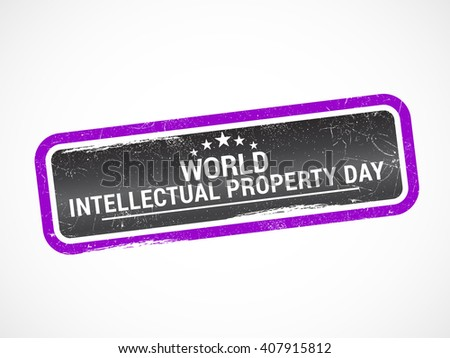 Vector stamp of World Intellectual Property Day. - stock vector
