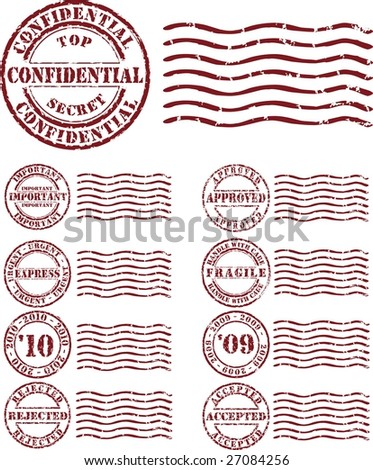 Vector  stamp with red ink - stock vector