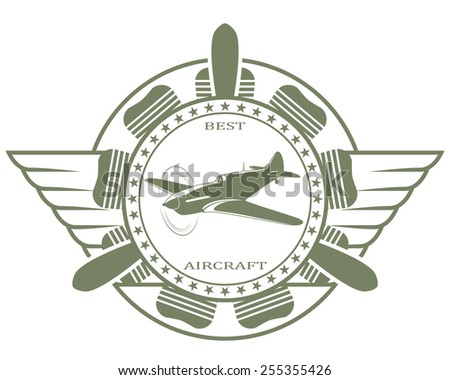 Vector stamp with the image of the best of the old fighter - stock vector