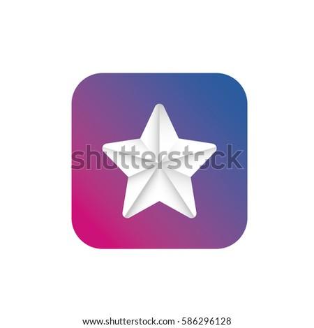 Vector Star App Icon Mobile Devices Stock Photo Photo Vector