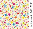Vector star background design - stock vector