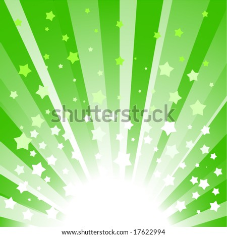 vector star burst in green