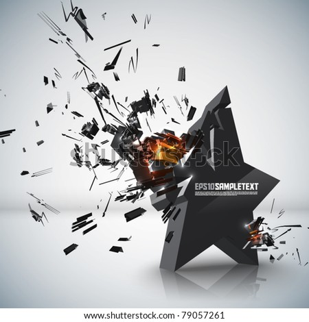 Vector Star Crushing - stock vector
