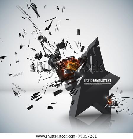 Vector Star Crushing - stock vector