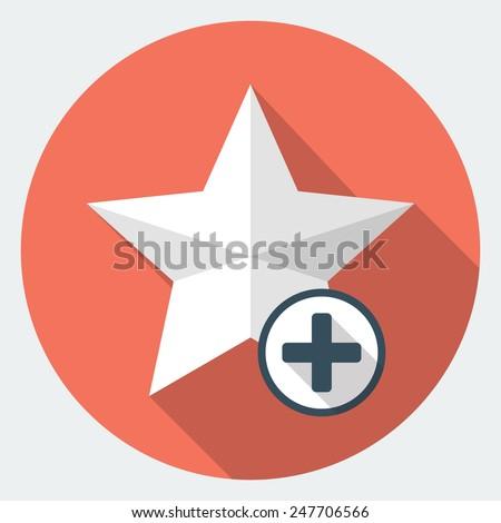 Vector star favorite icon - stock vector