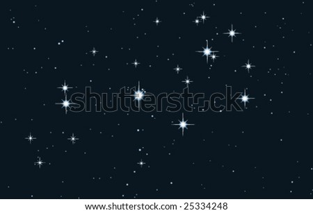 vector star galaxy - pleiades - stock vector
