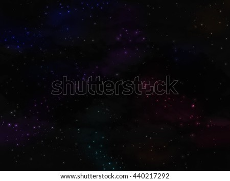 Vector Stars and galaxy space sky night with stars background. Elements of this image furnished by NASA. Colorful space nebula - stock vector