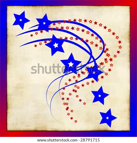 Vector Stars Old Fashioned Style - stock vector