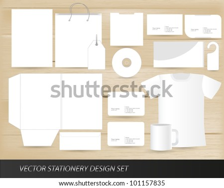 Vector stationery design set template