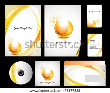 Vector stationery set eps10 for your design - stock vector