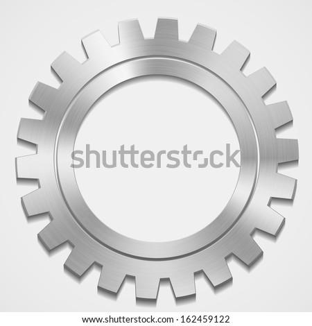 vector steel gear - stock vector