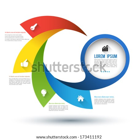 Vector step with icons / can use for infographic / loop business report or plan / modern template / education template / business brochure / business concept. - stock vector