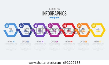 Vector Steps Timeline Infographic Template Stock Vector Royalty - Free timeline infographic template