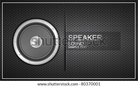 Vector stereo speaker background. Eps10 illustration - stock vector