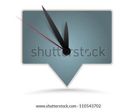 Vector sticker - clock