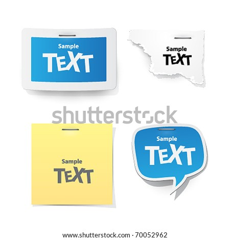 vector sticker for text - stock vector