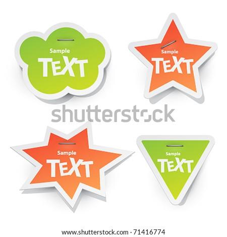 vector sticker for text - stock vector