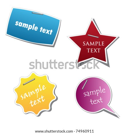 vector sticker for your sample text - stock vector