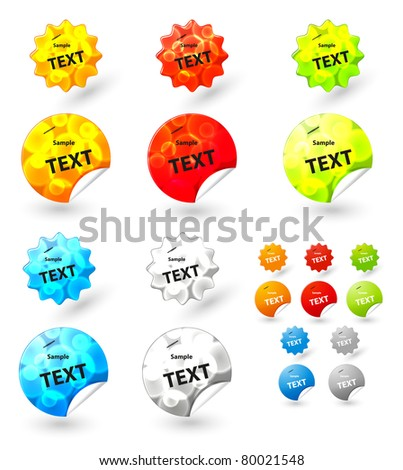vector sticker tag for your message