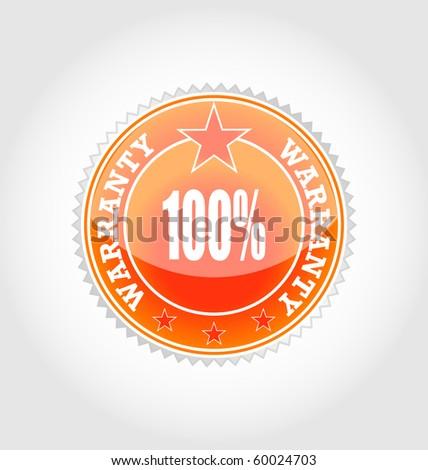 vector sticker-warranty - stock vector
