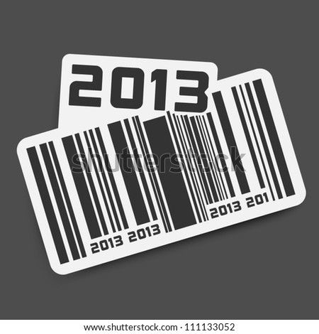 Vector sticker with code - year 2013