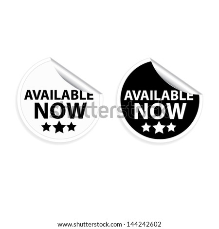 Vector stickers available now - stock vector
