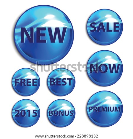 Vector stickers for the good season sales. Vector illustration. - stock vector