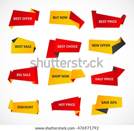 Vector Stickers Price Tag Banner Label Stock Vector 566651887