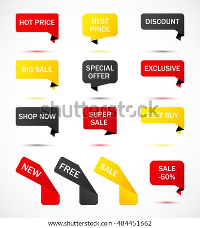 Vector Stickers Price Tag Banner Label Stock Vector 501927850