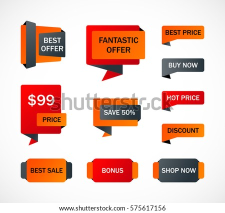 vector stickers price tag banner label stock vector 574781551