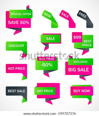 Vector Stickers Price Tag Banner Label Stock Vector 453539137