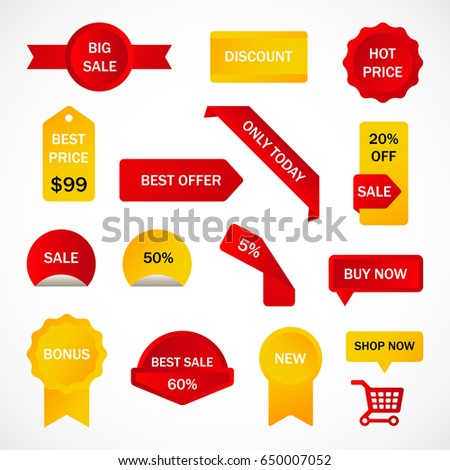 vector stickers price tag banner label stock vector 444888916
