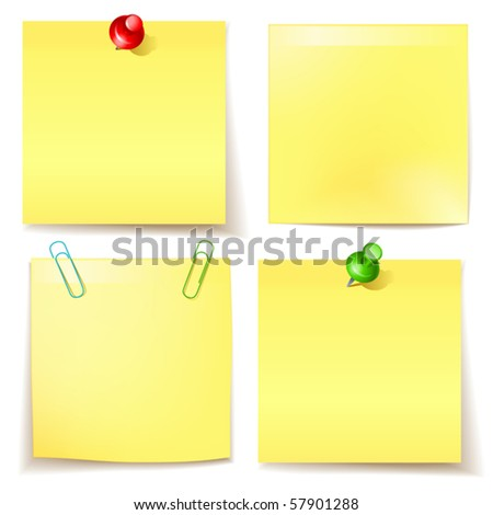 vector sticky paper set - stock vector