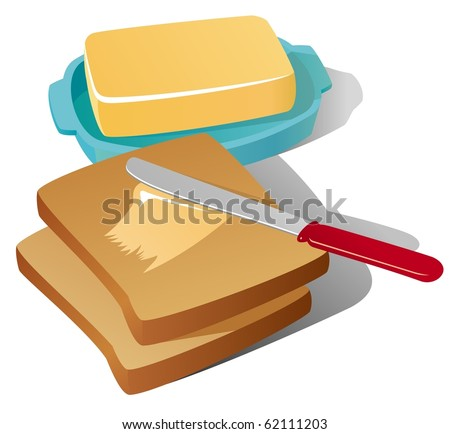 Vector still life with butter